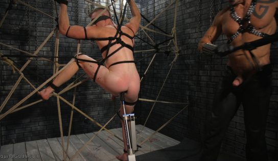 Leather Daddy Dallas Steele Abuses Rubber Boy Nick Fitt