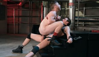 "Sebastian Keys Gets Fucked By Jack Hunter In Fisting Central ""Fetish Factory"""