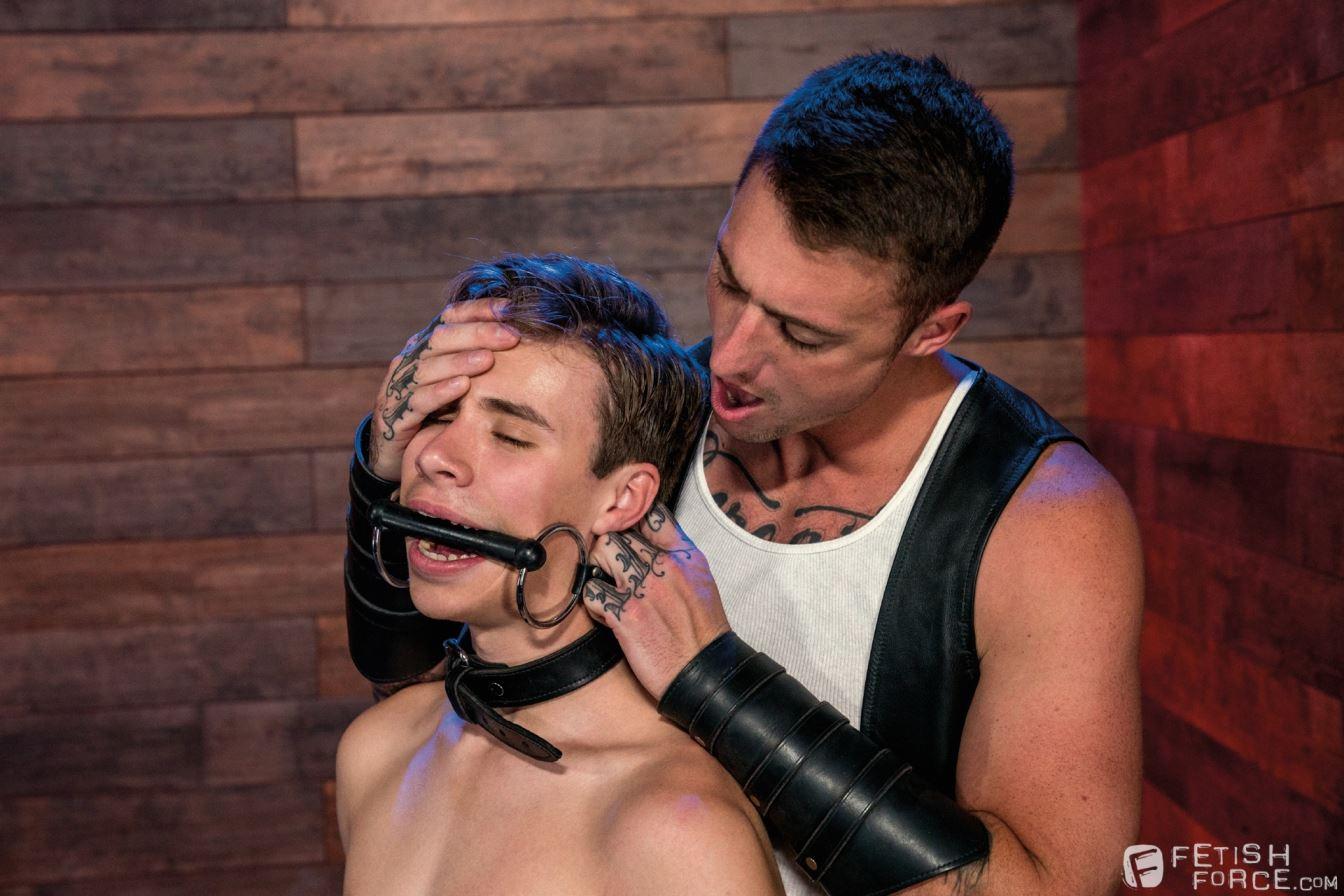 The Fetish Bar: Dane Stewart Trains New Slave Adam Awbride