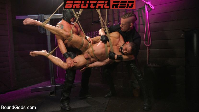 Sebastian Keys, Shane Jackson and Dominic Pacifico - Gay BDSM for Boundgods 3