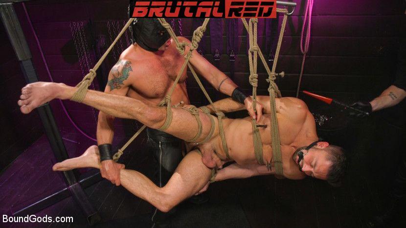 Sebastian Keys, Shane Jackson and Dominic Pacifico - Gay BDSM for Boundgods 4