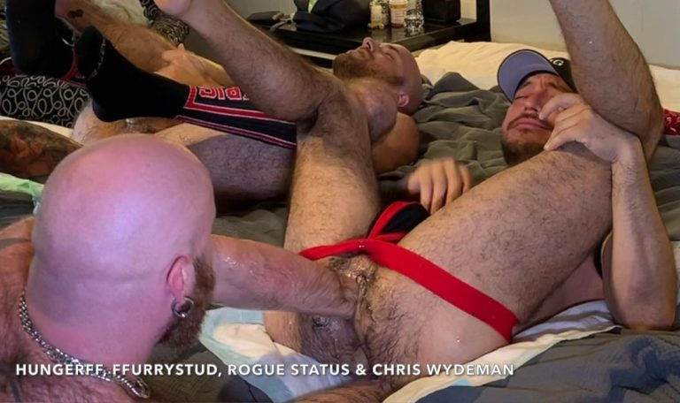 Shoulder Deep Fisting With HungerFF, FFurryStud, Rogue Status & Chris Wydeman 4