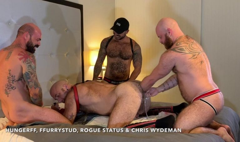 Shoulder Deep Fisting With HungerFF, FFurryStud, Rogue Status & Chris Wydeman 8