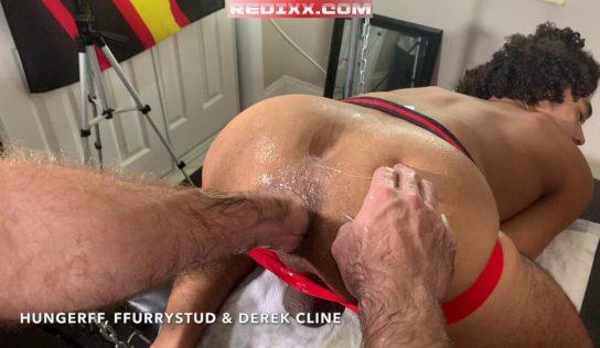 Tag Team Fisting Derek Cline – Part 2