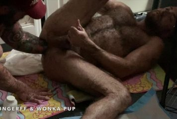 Wonka Pup Fist Fucks HungerFF – Elbow Deep Fisting