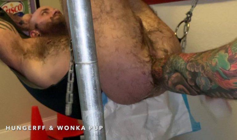 Wonka Pup Fist Fucks HungerFF - Elbow Deep Fisting: Part 2