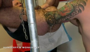Wonka Pup Fist Fucks HungerFF – Elbow Deep Fisting: Part 2