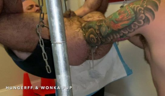 Wonka Pup Fist Fucks HungerFF – Elbow Deep Fisting: Part 2