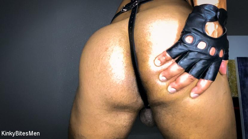 Dillon Diaz Masturbates With Inflatable Dildo & Leather Gloves 2
