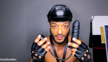 Dillon Diaz Masturbates With Inflatable Dildo & Leather Gloves