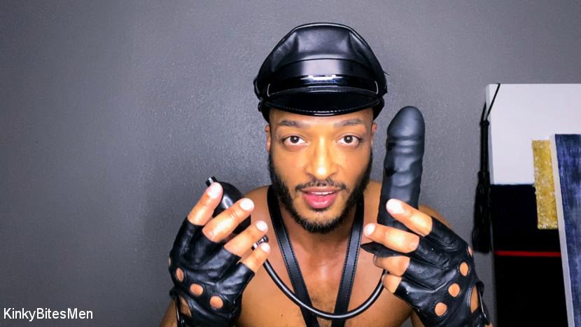 Dillon Diaz Masturbates With Inflatable Dildo & Leather Gloves 3