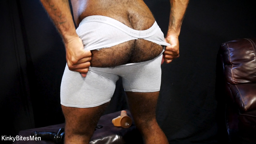 Hairy Micah Martinez Pleases Himself With Big Dildos