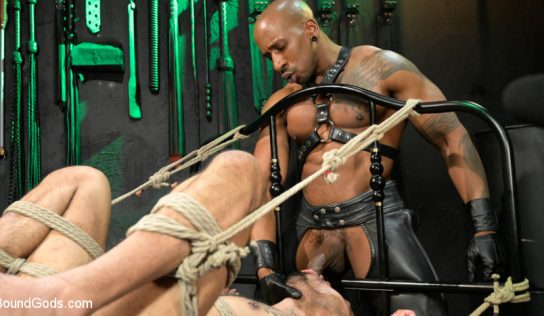 Leather God  Max Konnor Subdues Jon Darra