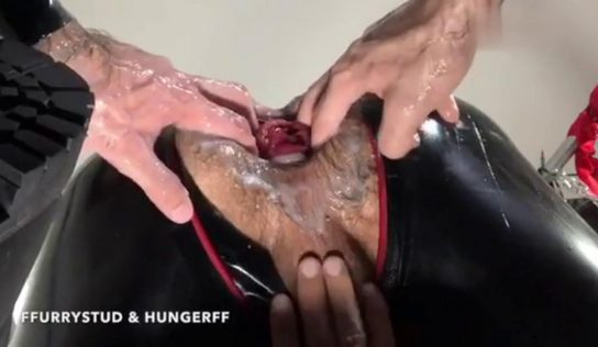 Rubber Fisting With HungerFF & FFurryStud