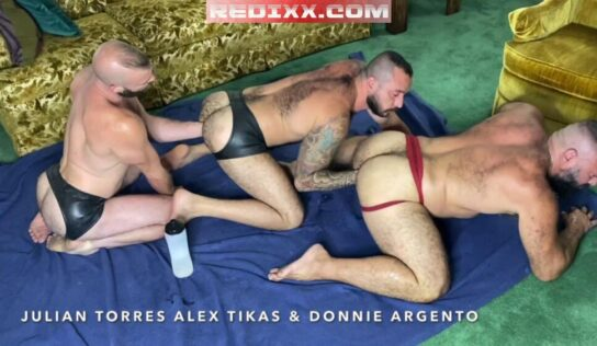 Gay Fisting Session: FFurryStud, Donnie Argento & Alex Tikas
